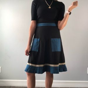 Dresses & Skirts - Color block wool blend skirt